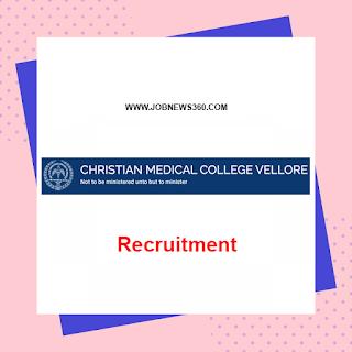 Christian Medical College Vellore Recruitment 2020 for Computer Terminal Operator & Emergency Care Technician