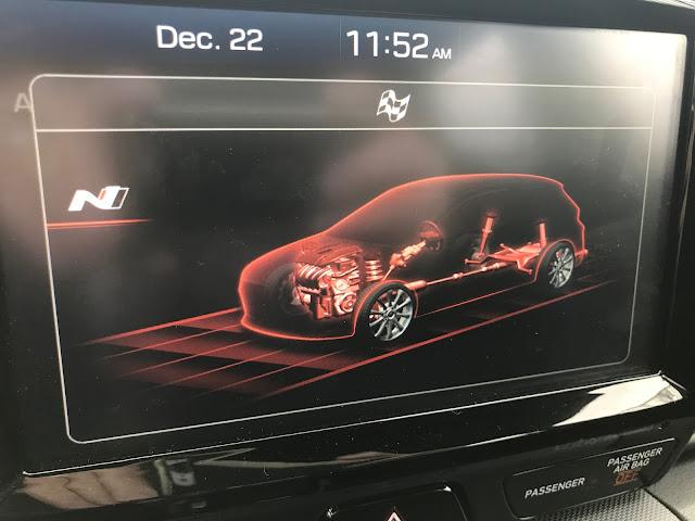 Display in 2020 Hyundai Veloster N