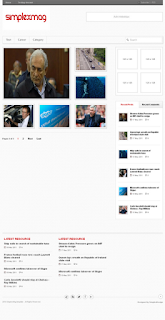 Download Magazine template and Shop template for blogspot