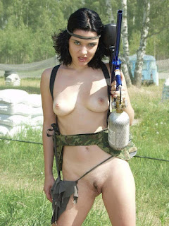 Naughty Girl - What Paintball Target?