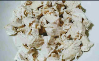 Bite size Chicken pieces for chicken fried rice recipe