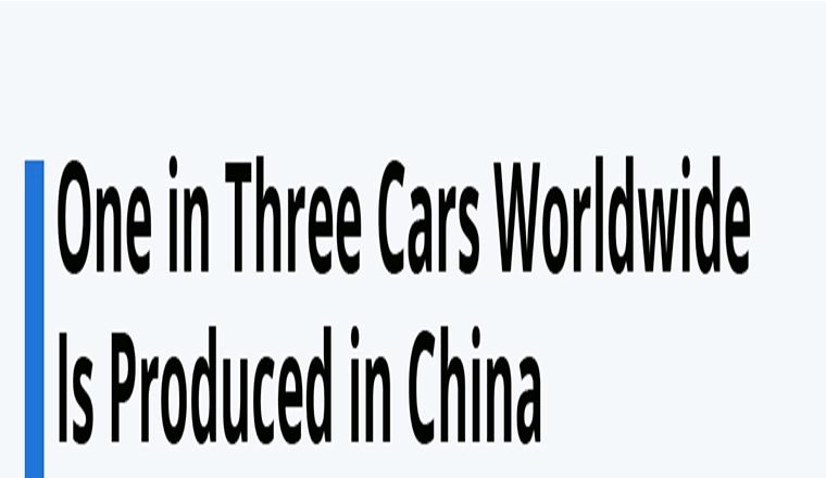 One in Three Cars Worldwide Is Produced in China #infographic