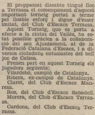 Recorte de Última Hora, 7/7/1936