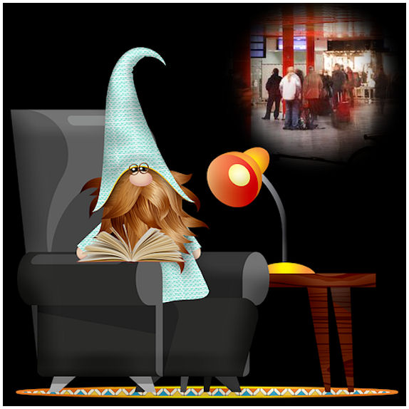 Kotona lueskeleva tuumii miksi jotkut yhä haluavat kokoontua porukoihin - kaiken uhallakin...