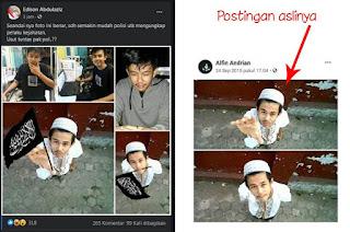 Ulah BuzzeRp! Foto Pelaku Penusukan Syekh Ali Jaber diedit Pro HTI dan Adu Domba Umat Islam