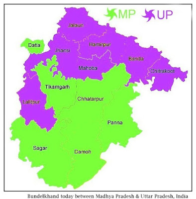 Map of Bundelkhand region, central India - Images by Sunil Deepak