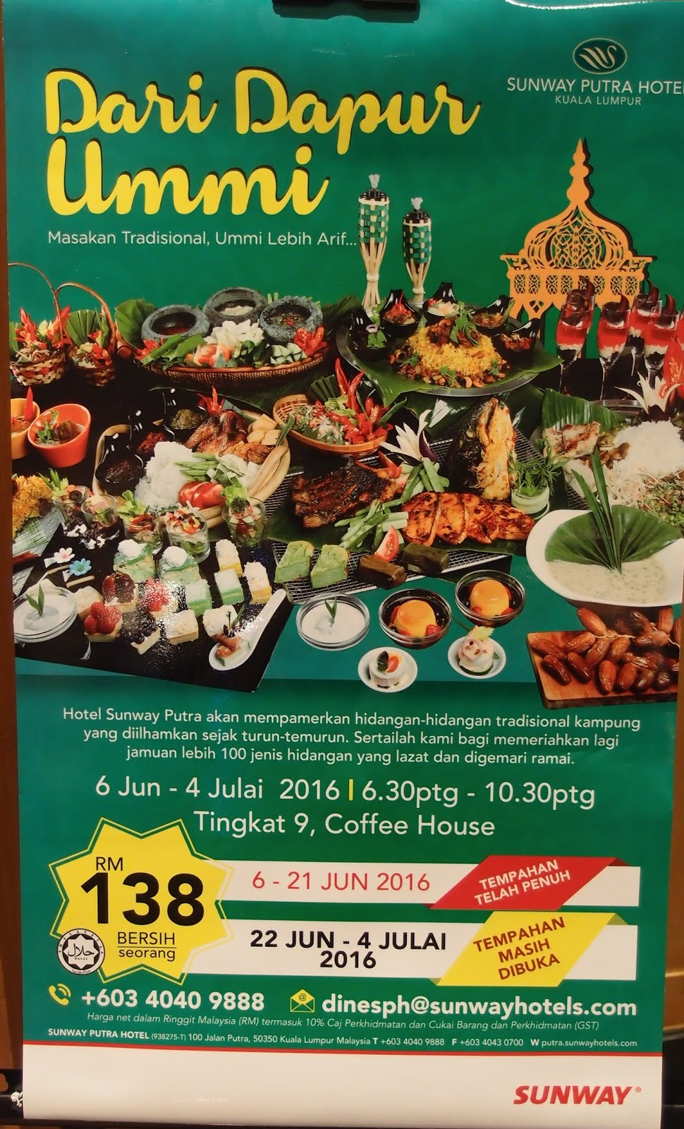 Best Restaurant To Eat Malaysian Food Travel Blog 2016 Ramadan Buffet Kuala Lumpur Sunway Putra Hotel Dari Dapur Ummi