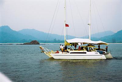 sailing the Andaman Sea near Myeik