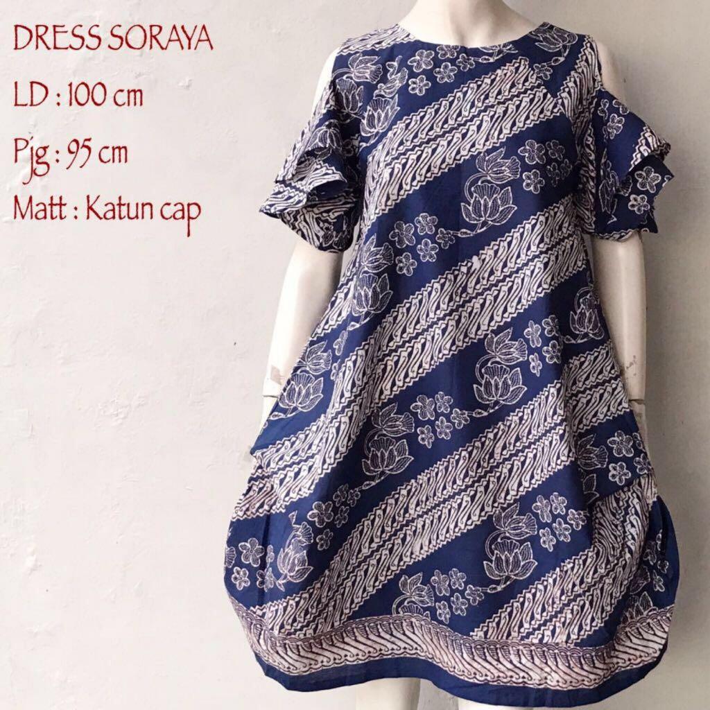 Batik Keris Solo 2017: Model Dress Batik Wanita Cantik Dan Modern Seri Soraya