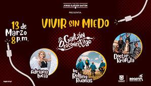 Concierto Adriana Lucía, Doctor Krápula y Los Rolling Ruanas