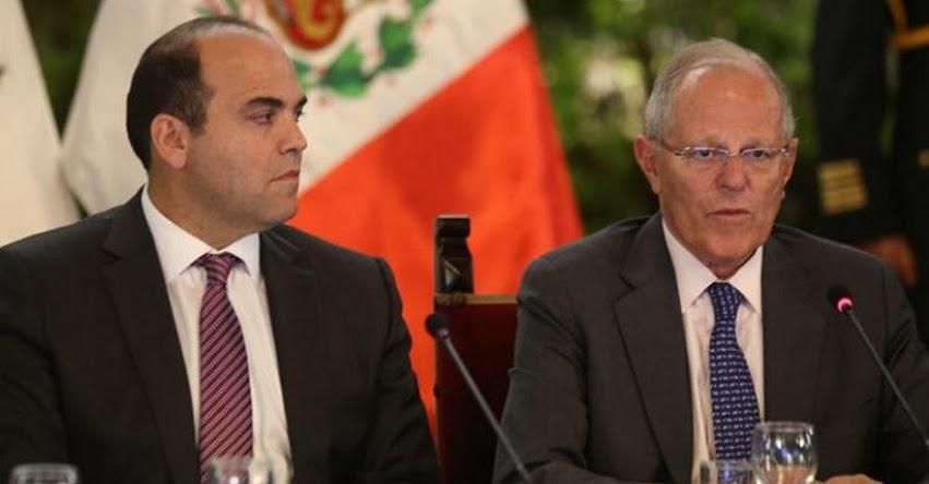 Hasta 3 ministros cambiarán mañana, confirmó Fernando Zavala, jefe del Gabinete Ministerial