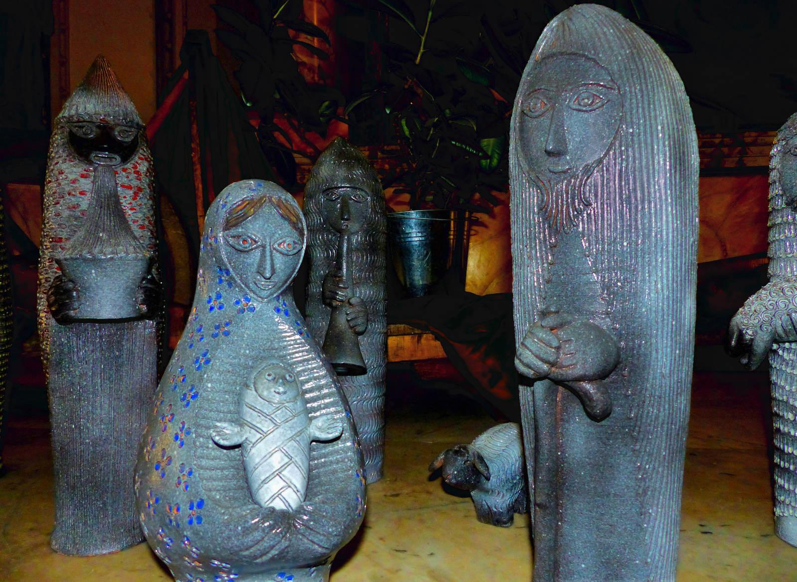 Céramiques André Brice - Crèche de l'alunissage, 1961.