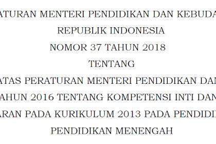 Download KI dan KD K13 Perubahan Revisi Terbaru Untuk Pendidikan Dasar Dan Menengah