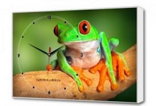 """Настенные часы """"Зеленая лягушка"""""""