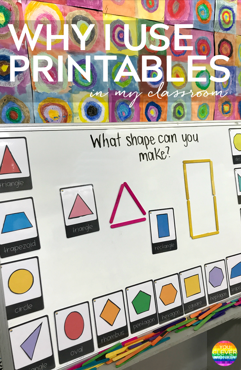 Using Printables Not Worksheets in an Early Years Classroom - why I use printables to help support learning | you clever monkey