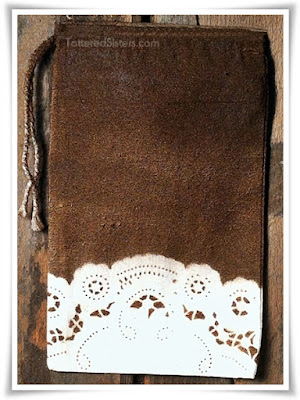 Shabby Primitive Grungy Muslin Bag - Tattered Sisters