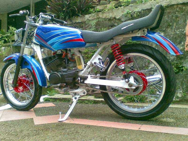 Gambar Modifikasi Motor RX King warna biru