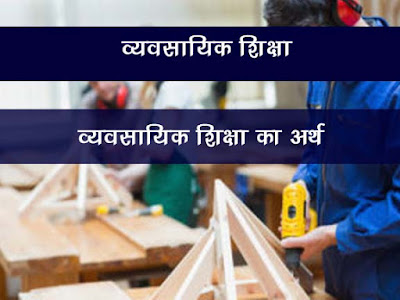 Meaning of Vocational Education , व्यवसायीकरण का अर्थ