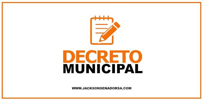 Prefeitura de Senador Sá publica novo decreto reforçando medidas restritivas.