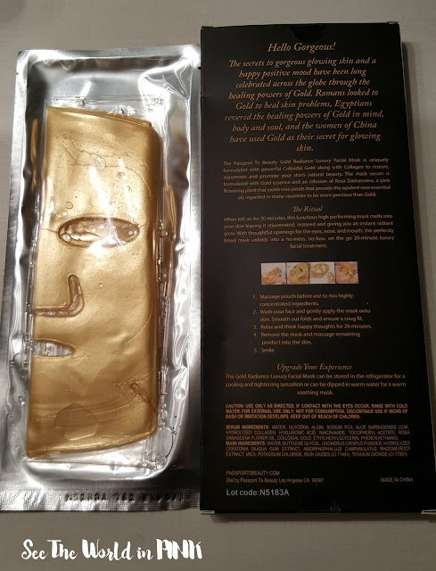 passport to beauty gold radiance luxury mask