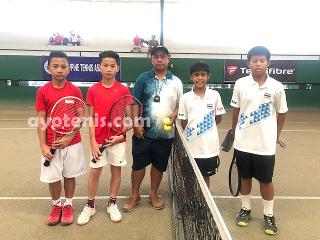 Tim Tenis Yunior Indonesia U12 Taklukkan Thailand