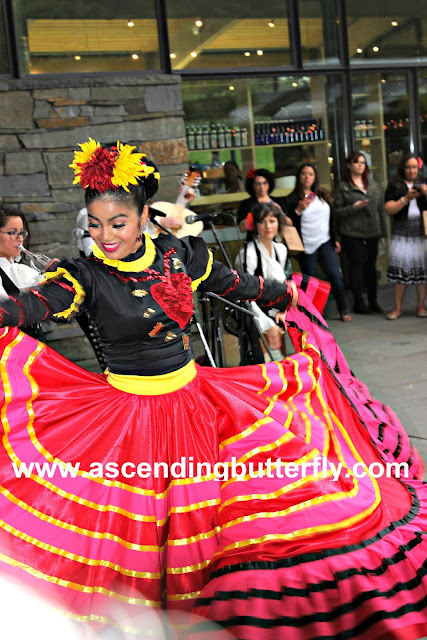 Dancing Frida Kahlo performs alongside Mariachi Flor de Toloache at The New York Botanical Garden Frida Khalo Art Garden Life Exhibition