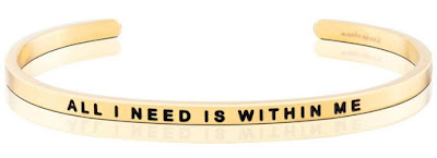 Affirmation Cuff, All I Need Is Within Me Bracelet FREE