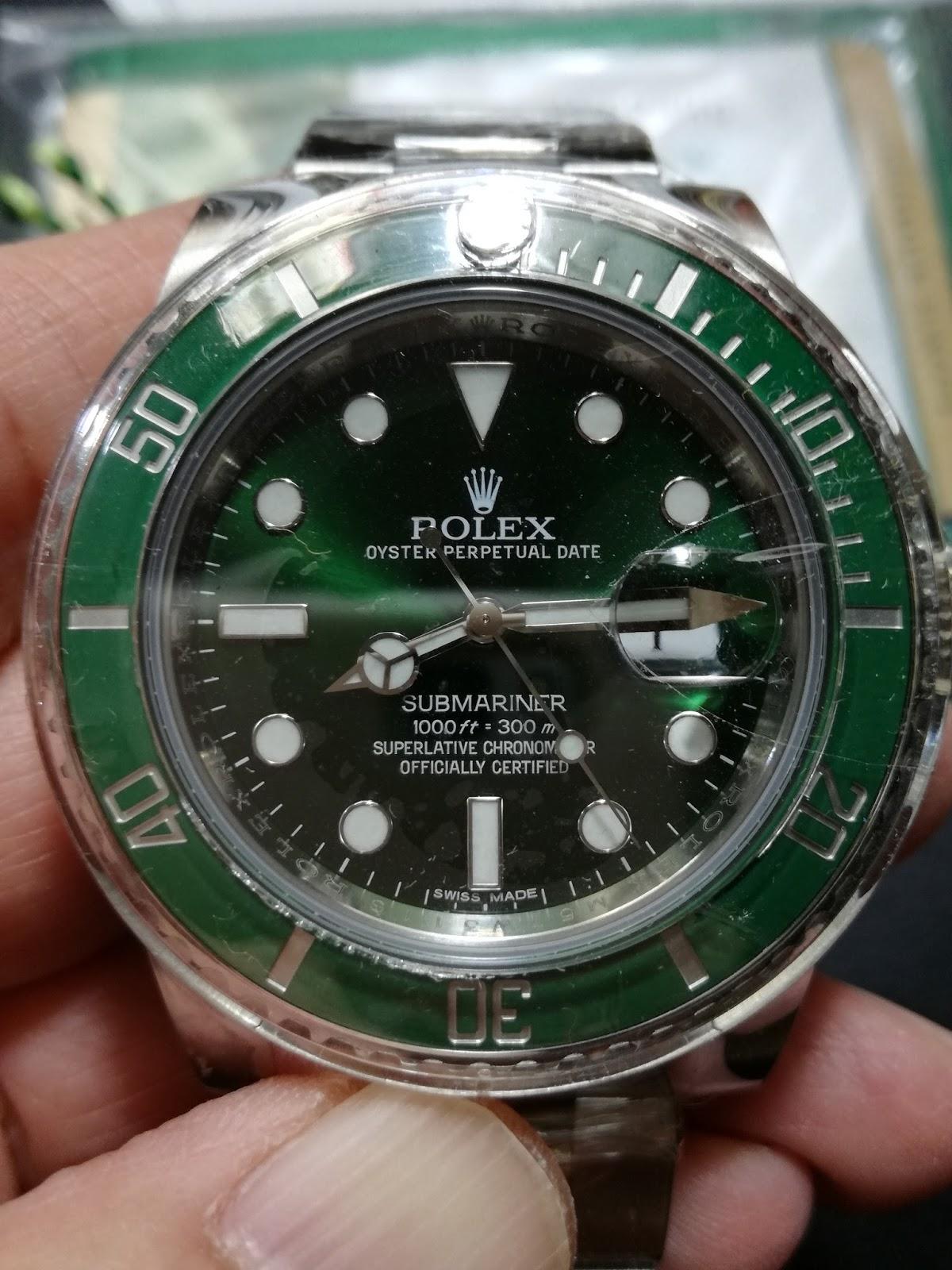Hong Kong Watch Fever 香港勞友 Rolex Submariner Ref 116610lv Hulk