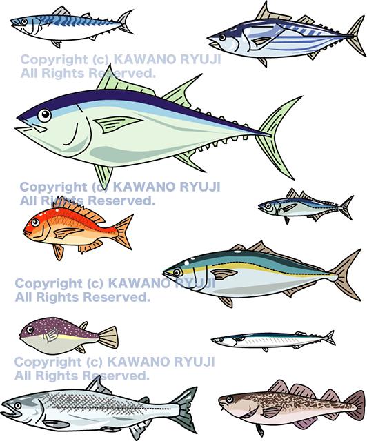魚のストック イラスト、ストックイラスト 、ベクター画像、イラストレーター、