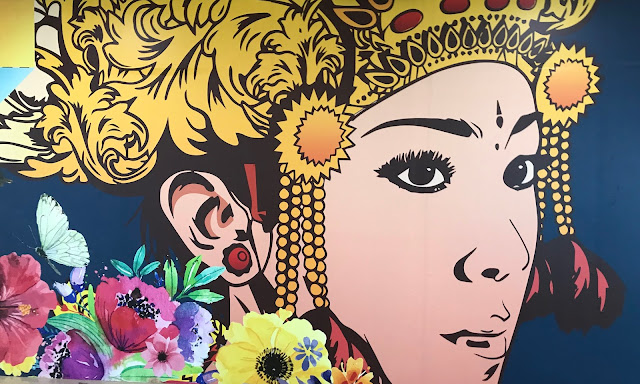 colorful Mural at Ngurah Rai International Airport