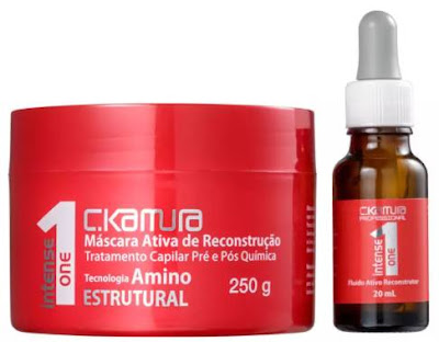 #Testei: Kit de Tratamento Capilar Pré e Pós Química - Intense One (C.Kamura Cosméticos)