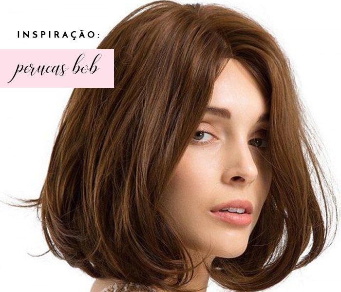 Inspiração de perucas com corte de cabelo bob lindas e naturais