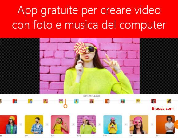 app per creare video con foto e musica per computer