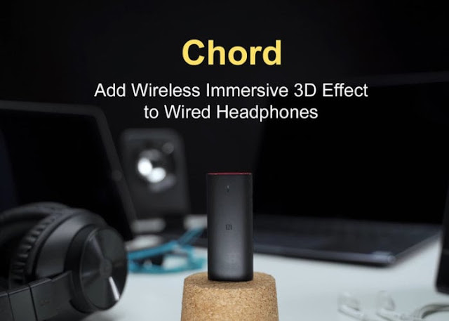Chord a wireless Bluetooth 3D effect system for wired headphones