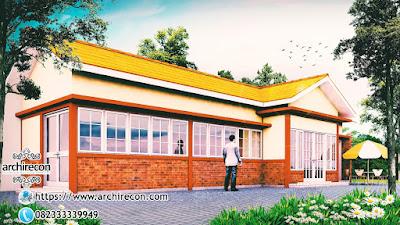 Upgrade Fungsi Masjid Dengan Fasilitas Edukasi Ekonomi & Sosial - Tampilan Animasi Masjid Ruhama Bogor - Tampilan Samping Masjid Ruhama Bogor