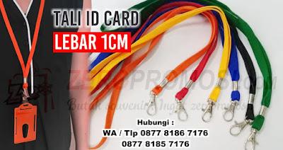 Tali ID Card, Tali Gantungan, Tali ID Card 1 cm Sarung, Tali Lanyard 1 cm, Tali polyester sarung, Tali Leher ID Card 1 cm, Tali ID Card 1 Cm Kilap dengan murah di tangerang