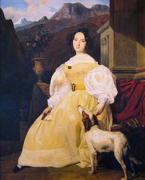 Евеліна Ганська, художник Фердинанд Георг Вальдмюллер (1835)