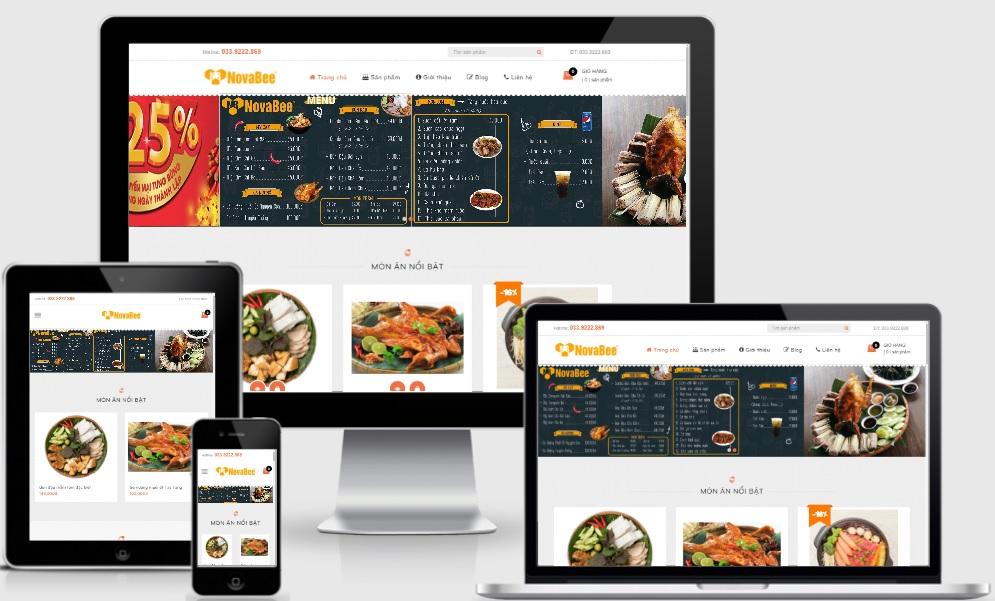Novabeefood - Template blogspot bán hàng cho quán ăn nhà hàng 2021 - Ảnh 1