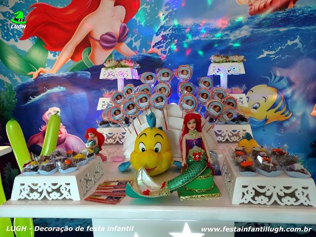 Decoração provençal da Pequena Sereia - festa infantil