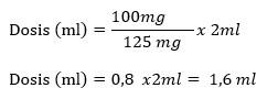 dosis total dari injeksi Methylprednisolone
