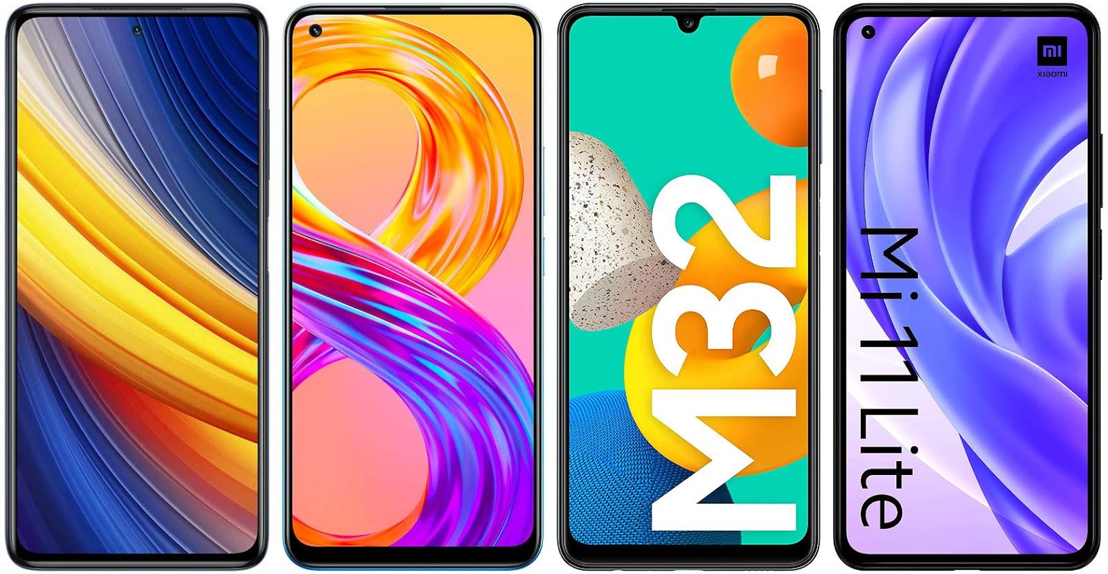 Xiaomi Poco X3 Pro vs Realme 8 Pro vs Samsung Galaxy M32 vs Xiaomi Mi 11 Lite