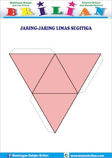 Gambar jaring-jaring bangun limas segitiga