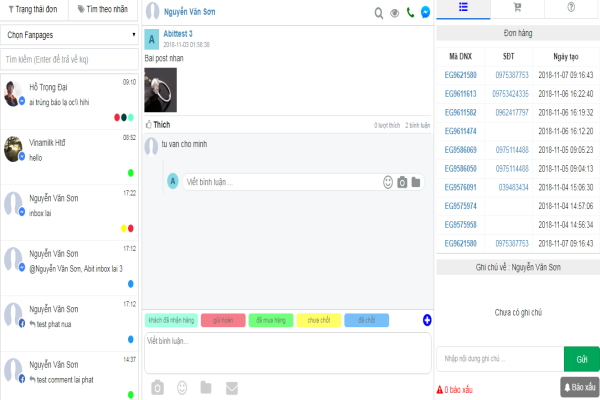 phần mềm quản lý nhiều fanpage