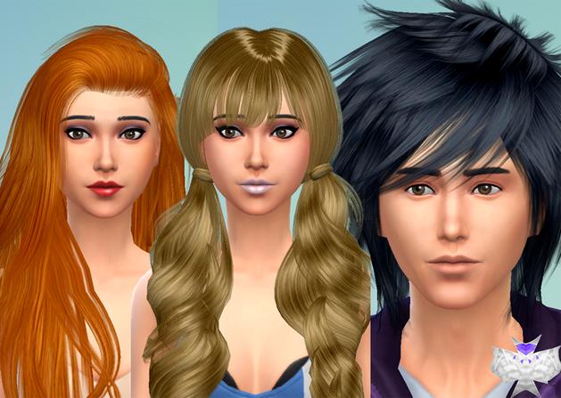 Bonito y cómodo los sims 4 peinados Fotos de las tendencias de color de pelo - Historias de Sims: Los Sims 4: descargas de peinados / Parte 1