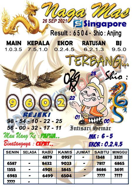 Syair Naga Mas SGP Minggu 26 September 2021