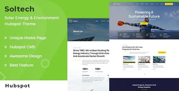 Best Solar Energy and Environment HubSpot Theme