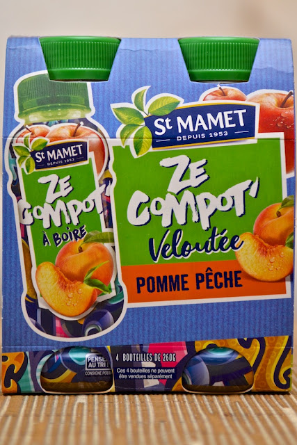 St Mamet - Ze Compot' - Ze Compot' Veloutée Pomme Pêche - Compote - Fruits - Peach Apple puree - Dessert - Food - Drinkable fruit puree - Compote à boire