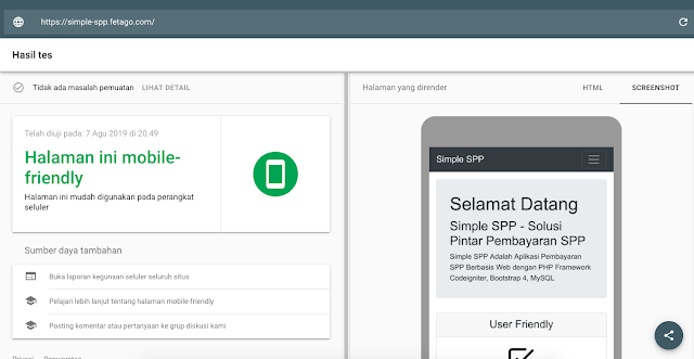 Aplikasi Pembayaran SPP Responsive Mobile Friendly