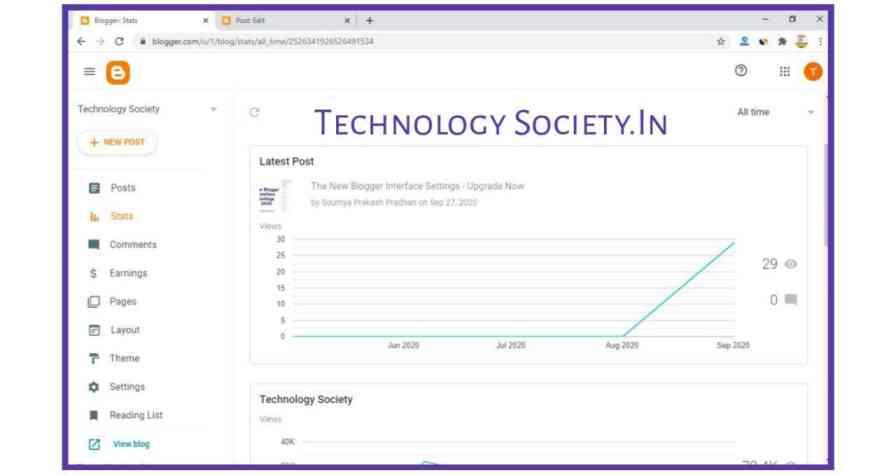 Blogger Interface Stats