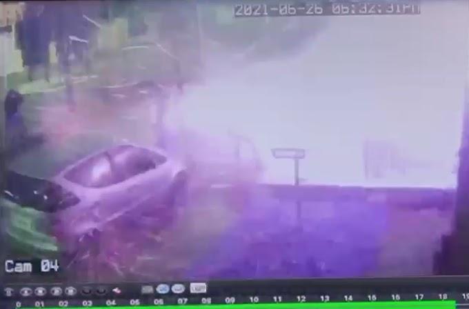 Vídeo mostra momento em que botijão de gás explode em hamburgueria no interior do Paraná